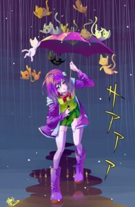 Rating: Safe Score: 13 Tags: neko poch4n seifuku thighhighs umbrella User: Mr_GT
