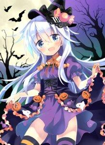 Rating: Safe Score: 23 Tags: dress halloween hibiki_(kancolle) hizuki_yayoi kantai_collection thighhighs User: Mr_GT