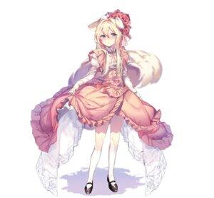 Rating: Safe Score: 18 Tags: animal_ears destiny_child dress lolita_fashion mendou_kusai skirt_lift tail User: hiroimo2