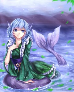 Rating: Safe Score: 22 Tags: japanese_clothes mermaid monster_girl sheya tail touhou wakasagihime wet User: charunetra