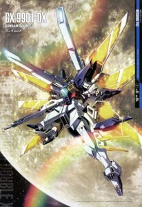 Rating: Safe Score: 21 Tags: gun gundam gundam_x mecha mutaguchi_hiroki wings User: drop