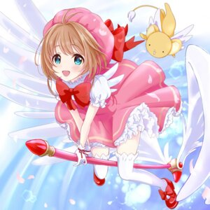 Rating: Safe Score: 27 Tags: card_captor_sakura dress heels kinomoto_sakura thighhighs wings yuki_(yukillust) User: animeprincess