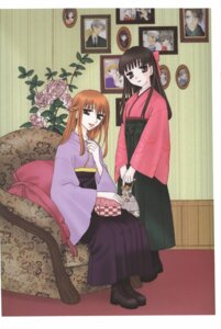 Rating: Safe Score: 3 Tags: fruits_basket honda_tohru japanese_clothes sohma_ritsu takaya_natsuki trap User: Radioactive
