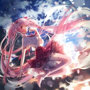 Rating: Safe Score: 75 Tags: bike_shorts hakusai hatsune_miku sakura_miku seifuku thighhighs vocaloid User: tbchyu001