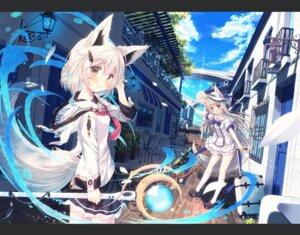 Rating: Safe Score: 64 Tags: animal_ears nagishiro_mito seifuku tail weapon User: Mr_GT