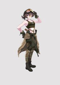 Rating: Safe Score: 9 Tags: bandaid cleavage gun uniform yitiao_er-hua User: Dreista
