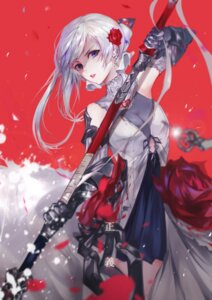 Rating: Safe Score: 78 Tags: armor blood dress sinoalice snow_white_(sinoalice) sword vardan User: Keethaux