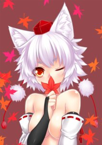 Rating: Questionable Score: 44 Tags: animal_ears inubashiri_momiji ookami_ryuu topless touhou User: Mr_GT