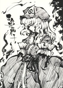 Rating: Safe Score: 5 Tags: monochrome saigyouji_yuyuko sway_wind tokiame touhou User: blooregardo