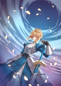 Rating: Safe Score: 9 Tags: armor chicken_(dalg-idalg) dress fate/grand_order saber sword User: Dreista