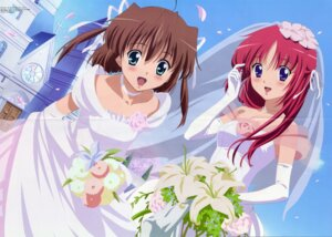 Rating: Safe Score: 9 Tags: asakura_nemu crease da_capo da_capo_(series) dress shirakawa_kotori wedding_dress User: admin2