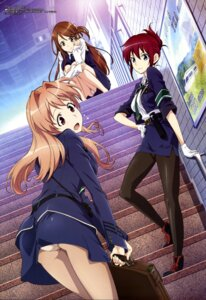 Rating: Questionable Score: 121 Tags: iida_nana koumi_haruka marufuji_hirotaka pantsu pantyhose rail_wars! sakurai_aoi_(rail_wars!) uniform User: drop