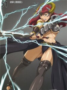 Rating: Safe Score: 9 Tags: armor claudette nigou queen's_blade sword thighhighs underboob User: HSkeleton