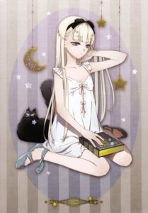 Rating: Safe Score: 35 Tags: amano_hana cleavage dress neko User: charunetra