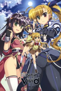 Rating: Safe Score: 12 Tags: armor bodysuit fujima_takuya heterochromia leotard mahou_shoujo_lyrical_nanoha mahou_shoujo_lyrical_nanoha_vivid rio_wezley sacred_heart seifuku thighhighs vivio User: DDD