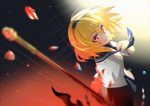 Rating: Safe Score: 10 Tags: blood higurashi_no_naku_koro_ni houjou_satoko nakayama_yuuji seifuku weapon User: saemonnokami