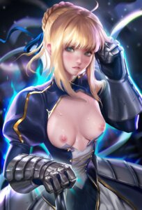 Rating: Questionable Score: 79 Tags: armor breasts dress fate/stay_night nipples no_bra open_shirt saber sakimichan User: KotarouInumimi