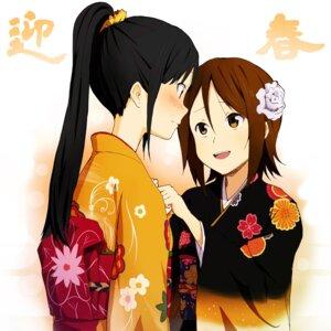 Rating: Safe Score: 19 Tags: akiyama_mio kimono k-on! tainaka_ritsu zasshu_tamashii User: Radioactive