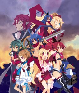 Rating: Safe Score: 15 Tags: disgaea etna flonne harada_takehito laharl laharl-chan sicily sword tail thighhighs wings User: Radioactive