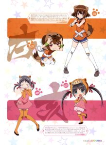 Rating: Questionable Score: 13 Tags: animal_ears bandaid chibi dress etotama inu-tan tail thighhighs uri-tan User: drop