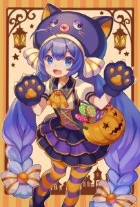Rating: Safe Score: 13 Tags: choke_(amamarin) dress halloween neko otomachi_una pantyhose vocaloid User: Dreista
