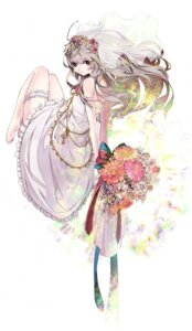 Rating: Safe Score: 31 Tags: dress garter shiguma wedding_dress User: blooregardo