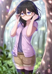 Rating: Safe Score: 70 Tags: glasslip kazenokaze megane nagamiya_sachi thighhighs User: tbchyu001