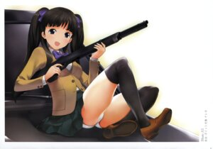 Rating: Questionable Score: 17 Tags: a1 gun k-books pantsu seifuku User: WtfCakes