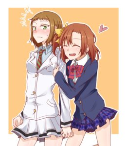 Rating: Safe Score: 15 Tags: kira_tsubasa kousaka_honoka love_live! seifuku yuri User: Radioactive