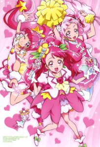 Rating: Safe Score: 8 Tags: cheerleader crossover healin'_good_precure heels hugtto!_precure itaoka_nishiki see_through star_twinkle_precure thighhighs User: drop