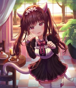 Rating: Safe Score: 46 Tags: alpha_(ypalpha79) animal_ears maid nekomimi tail thighhighs User: BattlequeenYume