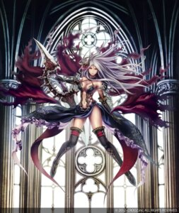 Rating: Questionable Score: 99 Tags: anbe_yoshirou cleavage deity_wars sword thighhighs User: blooregardo