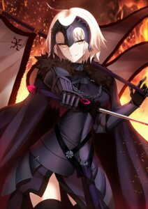 Rating: Safe Score: 25 Tags: armor fate/grand_order jeanne_d'arc jeanne_d'arc_(alter)_(fate) shiguru sword thighhighs User: Mr_GT