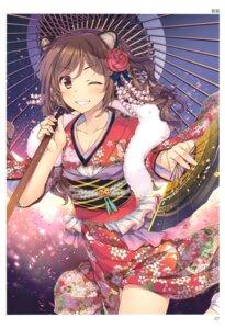 Rating: Safe Score: 44 Tags: alpha animal_ears cleavage kimono toranoana umbrella User: abcdefh