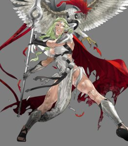 Rating: Questionable Score: 7 Tags: armor cleavage fire_emblem fire_emblem_heroes kozaki_yuusuke nintendo nott_(fire_emblem) pantsu string_panties torn_clothes weapon User: fly24