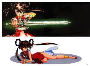 Rating: Questionable Score: 5 Tags: chinadress devil_hunter_yohko mano_yohko screening sword User: Rock