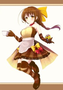 Rating: Safe Score: 22 Tags: aliasing anthropomorphization kiri_frog maid thighhighs yukiko-tan User: 椎名深夏