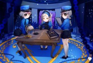 Rating: Safe Score: 13 Tags: caroline_(persona_5) eyepatch justine_(persona_5) lavenza niniidawns persona_5 uniform User: Mr_GT