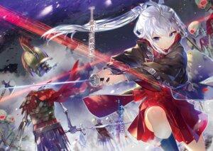 Rating: Questionable Score: 15 Tags: armor blood monster seifuku sword tagme weapon User: kiyoe