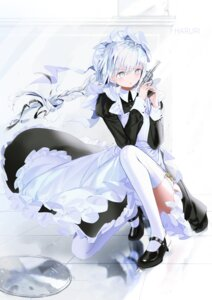 Rating: Safe Score: 12 Tags: gun heels maid mullpull skirt_lift stockings thighhighs weapon User: Mr_GT