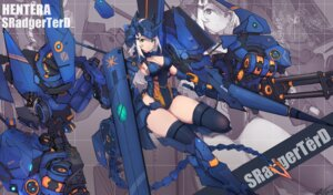 Rating: Safe Score: 5 Tags: mecha_musume syaha thighhighs weapon User: Mr_GT