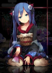 Rating: Safe Score: 48 Tags: hatsune_miku ogipote vocaloid yukata User: Nekotsúh