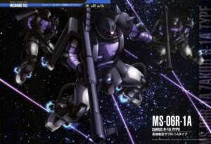 Rating: Safe Score: 9 Tags: gun gundam kawazoe_masakazu mecha mobile_suit_gundam ms-06_zaku_ii User: drop