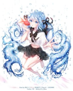 Rating: Safe Score: 27 Tags: hatsune_miku kity1211_tetsu seifuku skirt_lift vocaloid User: Mr_GT