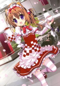 Rating: Safe Score: 51 Tags: fujima_takuya thighhighs waitress User: crim