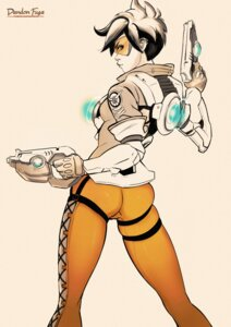Rating: Safe Score: 14 Tags: ass autographed dandon_fuga gun overwatch tracer User: NotRadioactiveHonest