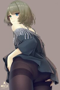 Rating: Questionable Score: 35 Tags: ass dress heterochromia infinote pantsu pantyhose skirt_lift takagaki_kaede the_idolm@ster the_idolm@ster_cinderella_girls User: Mr_GT