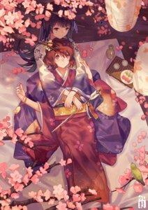 Rating: Safe Score: 29 Tags: hibike!_euphonium kimono kousaka_reina norizc oumae_kumiko User: Mr_GT
