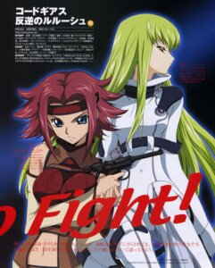 Rating: Safe Score: 11 Tags: bodysuit breast_hold c.c. code_geass gun kallen_stadtfeld shingou_yasushi User: admin2