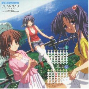 Rating: Safe Score: 8 Tags: calendar clannad cropme fujibayashi_ryou furukawa_nagisa ichinose_kotomi ikeda_kazumi skirt_lift thighhighs umbrella User: admin2